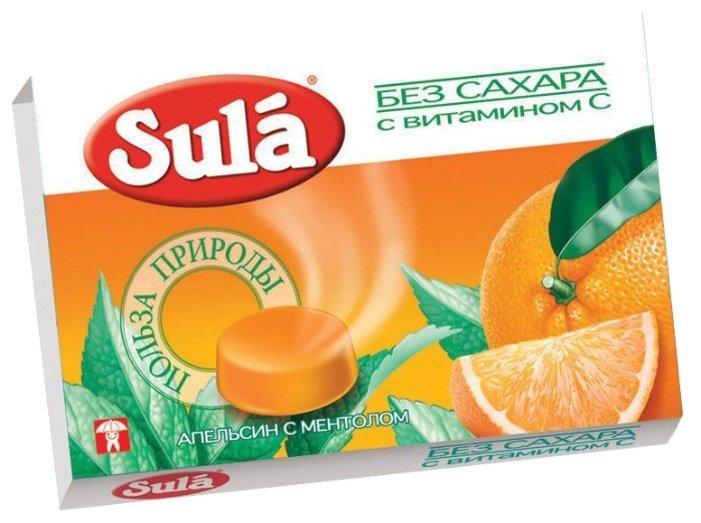 Леденцы Sula Апельсин с ментолом 18 г