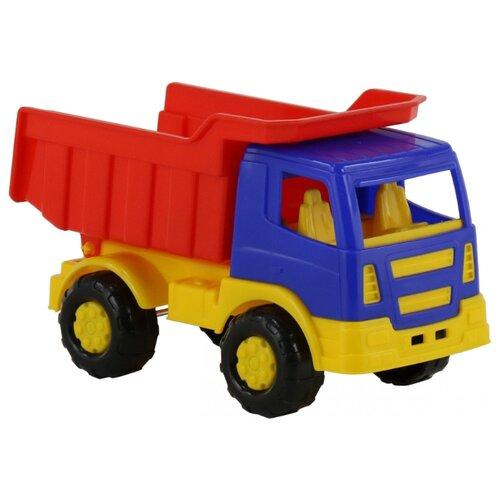 Купить Грузовик Полесье Салют (8946) 22 см синий/красный/желтый, Машинки и техника