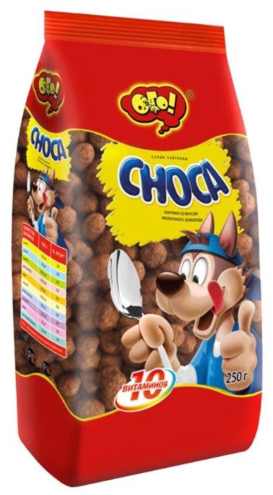 Готовый завтрак ОГО! Choca шарики со вкусом молочного шоколада, пакет
