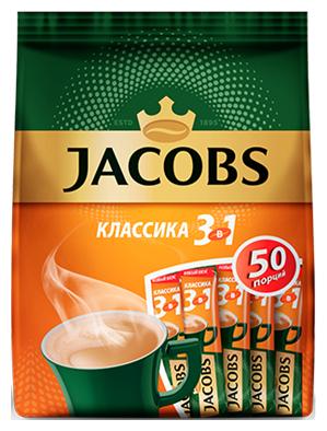 Растворимый кофе Jacobs 3 в 1 Классика, в стиках