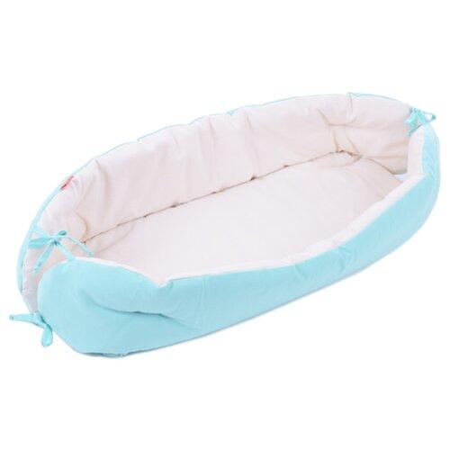 Купить Позиционер для сна HoneyMammy для новорожденных 0-6 месяцев 70х30 см turquoise, Покрывала, подушки, одеяла
