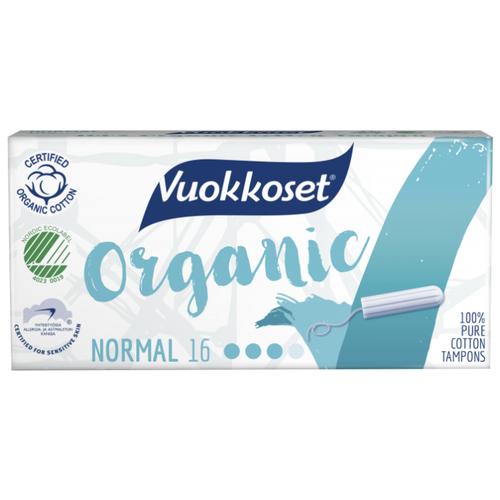 Vuokkoset тампоны Organic Normal 16 шт.Прокладки и тампоны<br>