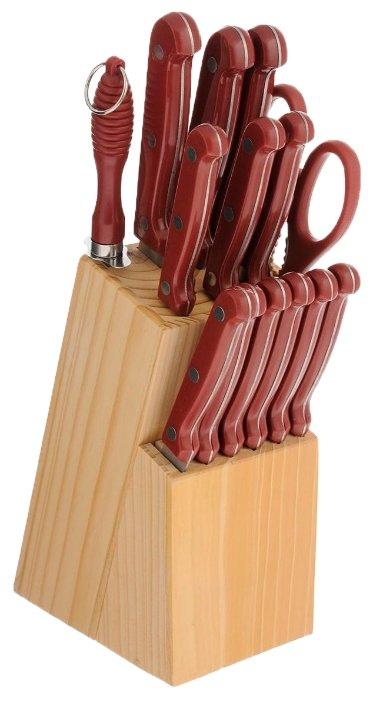 Набор MAYER & BOCH 12 ножей, ножницы и мусат с подставкой 24251 / 24252 / 24253