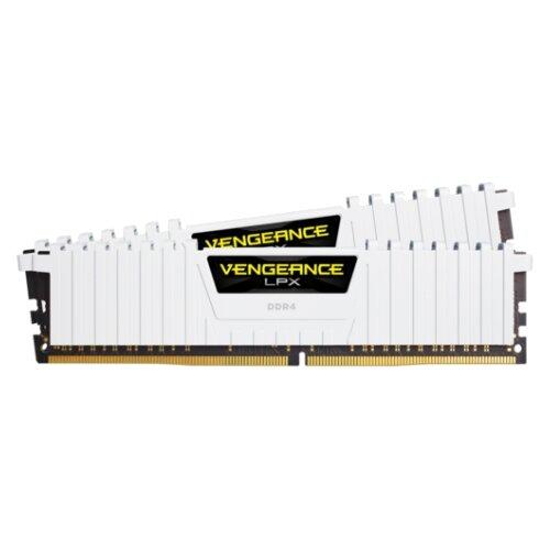 Оперативная память Corsair DDR4 3000 (PC 24000) DIMM 288 pin, 8 ГБ 2 шт. 1.35 В, CL 15, CMK16GX4M2B3000C15W  - купить со скидкой