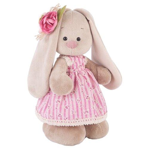 Купить Мягкая игрушка Зайка Ми в деревенском платье 25 см, Мягкие игрушки