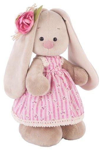 Мягкая игрушка Зайка Ми в деревенском платье 25 см