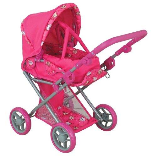 Коляска-трансформер Buggy Boom Infinia (8450) розовый/мишки buggy boom коляска для кукол buggy boom infinia трасформер розовая