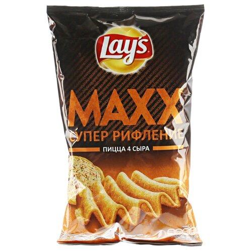 Чипсы Lay's Maxx картофельные Пицца 4 сыра рифленые, 145 г недорого