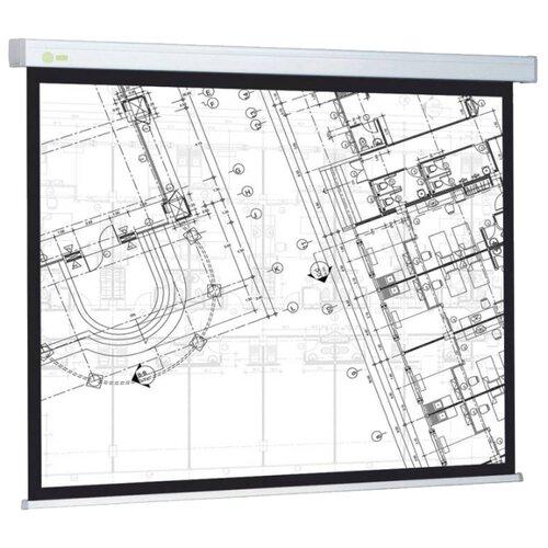 Рулонный матовый белый экран cactus Wallscreen CS-PSW-104x186