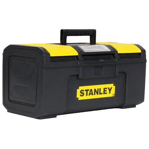 Ящик с органайзером STANLEY 1-79-216 Line Toolbox 39.4x22x16.2 см 16'' черный ящик с органайзером stanley jumbo 1 92 906 27 6x48 6x23 2 см черный желтый
