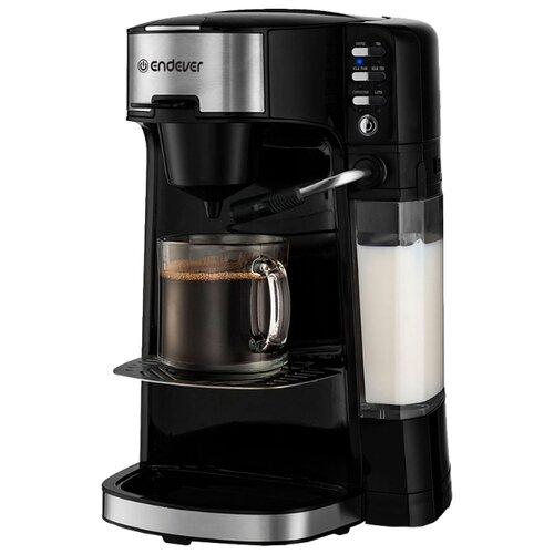 Кофеварка рожковая ENDEVER Costa-1070 черный кофеварка endever costa 1005 серебристый черный