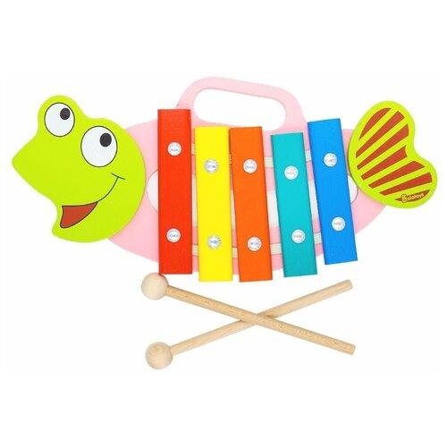 Alatoys ксилофон Рыбка КС0502 разноцветный фото