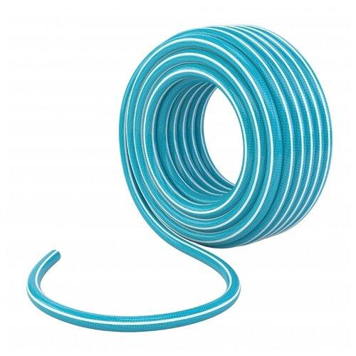 Шланг PALISAD поливочный армированный 4-х слойный 3/4 25 метров голубой/белый шланг palisad поливочный армированный 3 х слойный 3 4 25 метров 67645 зеленый голубой