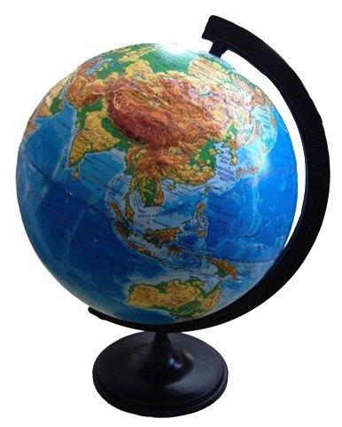 Глобус физический рельефный Глобусный мир, 32см, на круглой подставке (арт. 185789)