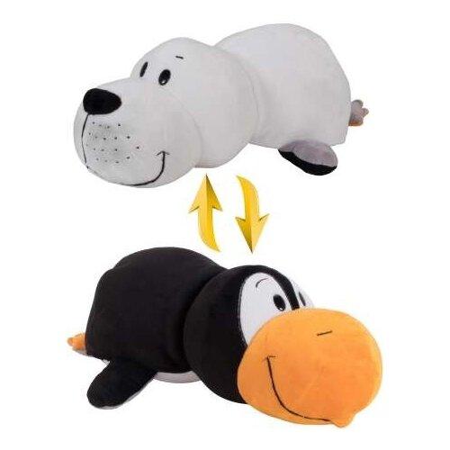 Купить Мягкая игрушка 1 TOY Вывернушка Пингвин-Морской котик 20 см, Мягкие игрушки