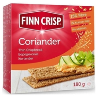 Сухарики ржаные Finn Crisp бородинские с кориандром (коробка) 180 г