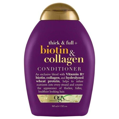 OGX кондиционер Thick & Full+ Biotin & Collagen, 385 мл biotin collagen shampoo