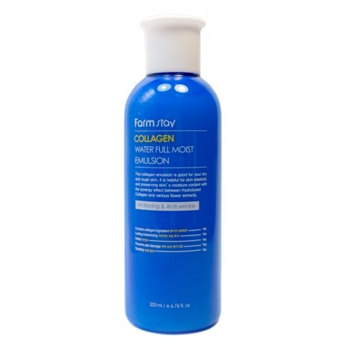 Фото - Farmstay Collagen Water Full Moist Emulsion Увлажняющая эмульсия для лица с коллагеном, 200 мл farmstay крем увлажняющий для лица с коллагеном collagen water full moist cream 100г