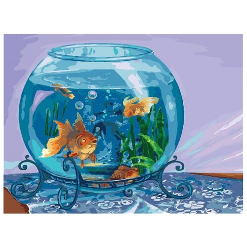 Купить Белоснежка Картина по номерам Аквариум 30х40 см (060-AS), Картины по номерам и контурам