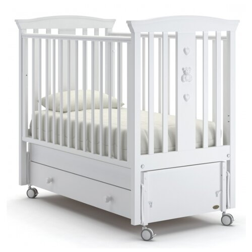 Кроватка Nuovita Fasto (качалка), продольный маятник белый кроватка гандылян дашенька колесо качалка белый