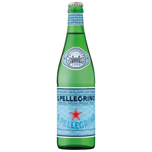 Минеральная вода San Pellegrino газированная, стекло, 0.5 л