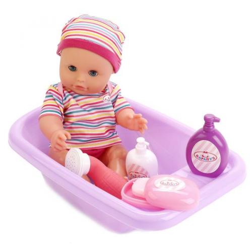 Интерактивный пупс Карапуз с ванночкой и душем, 33 см, BAE11199-RUКуклы и пупсы<br>