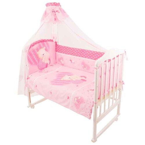 Купить Золотой Гусь комплект Мишутка (7 предметов) розовый, Постельное белье и комплекты