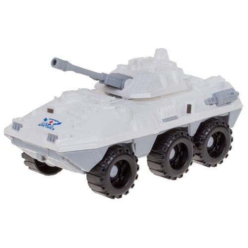 Купить Бронетранспортер Нордпласт БМП Арктика (293) 20 см белый, Машинки и техника