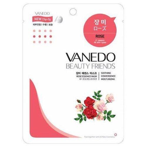 Vanedo Rose Essence Mask Sheet Pack Маска для лица с розовой водой, 25 г недорого