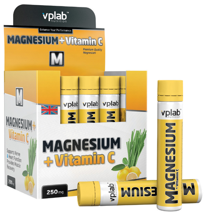 Минерально-витаминный комплекс VP Laboratory Magnesium + Vitamin C (20 ампул х 25 мл)