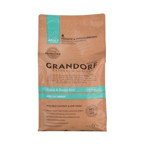 Корм для собак Grandorf (3 кг) 4 Meat & Brown Rice Все породы takasago brown rice шампунь