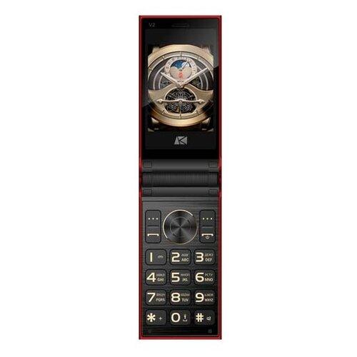 Телефон Ark Benefit V2 черный / красный сотовый телефон ark benefit s452 black