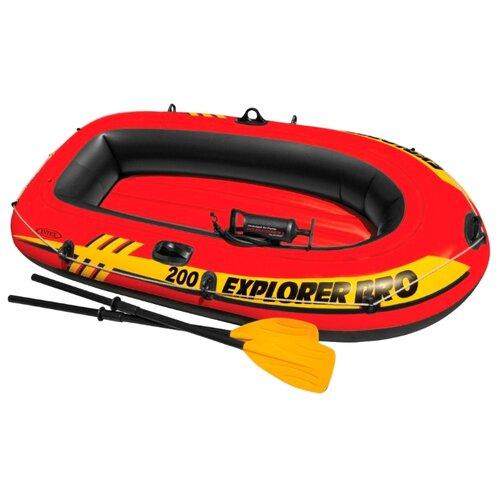 Надувная лодка Intex Explorer-Pro 200 Set (58357) красный