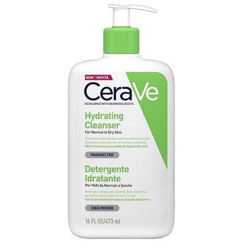 CeraVe крем-гель увлажняющий очищающий для нормальной и сухой кожи лица и тела, 473 мл cerave крем увлажняющий для сухой кожи лица и тела 340 мл