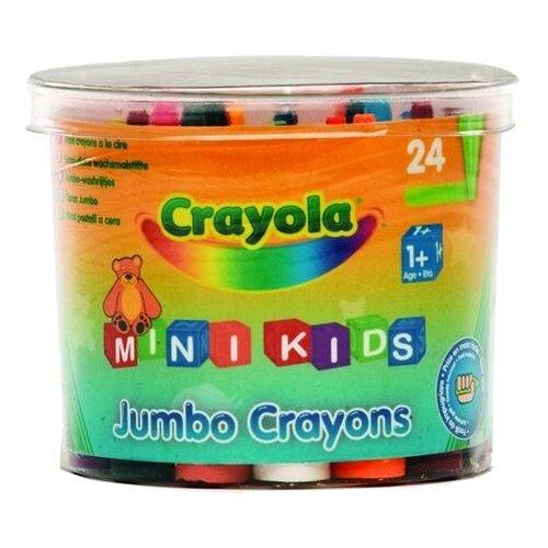 Купить Crayola Восковые мелки для малышей в бочонке 24 шт 0784C, Пастель и мелки