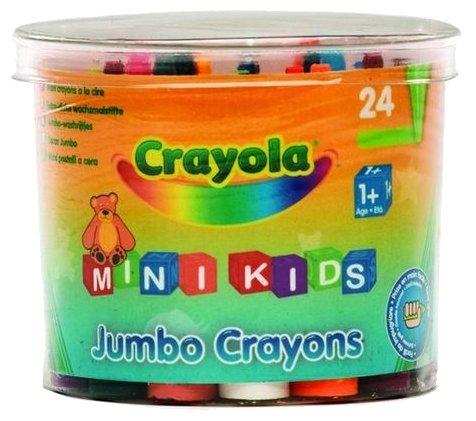 Crayola Восковые мелки для малышей в бочонке 24 шт 0784C