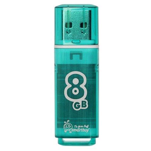 Флешка SmartBuy Glossy USB 2.0 8GB изумрудный