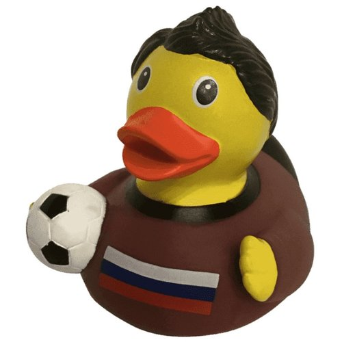 Игрушка для ванной FUNNY DUCKS Уточка Российский футболист (1916) коричневый/желтый/черныйИгрушки для ванной<br>