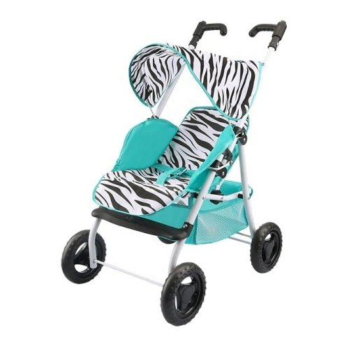 Купить Прогулочная коляска S+S Toys Like in life 200100674 мятный/зебра, Коляски для кукол