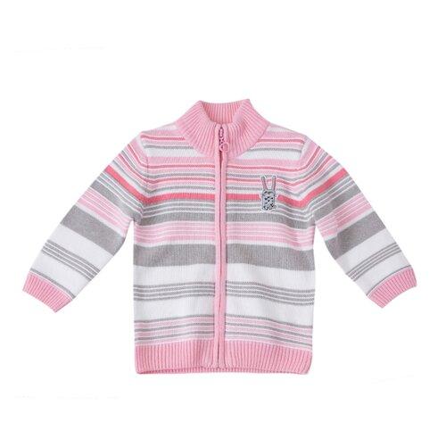 Кардиган playToday размер 74, светло-розовый/белый/серыйДжемперы и толстовки<br>