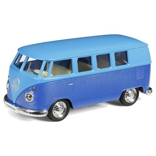 Купить Микроавтобус RMZ City Volkswagen T1 Transporter (554025M) 1:32 голубой с синим, Машинки и техника