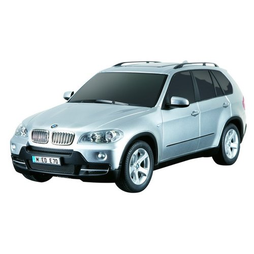 Купить Легковой автомобиль Rastar BMW X5 (23100) 1:18 27.5 см серебристый, Радиоуправляемые игрушки