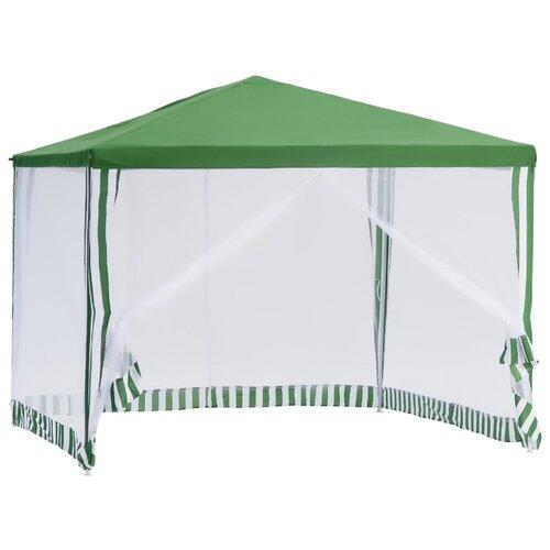 Шатер Green Glade 1036, со стенками и москитной сеткой, 3 х 3 х 2.5 м белый/зеленый