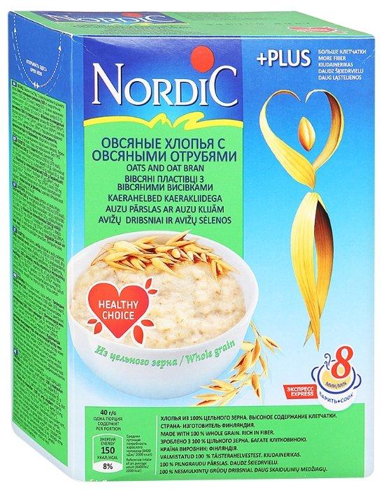 Каша Nordic безмолочная овсяные с отрубями с 12 месяцев 600 г 1 шт