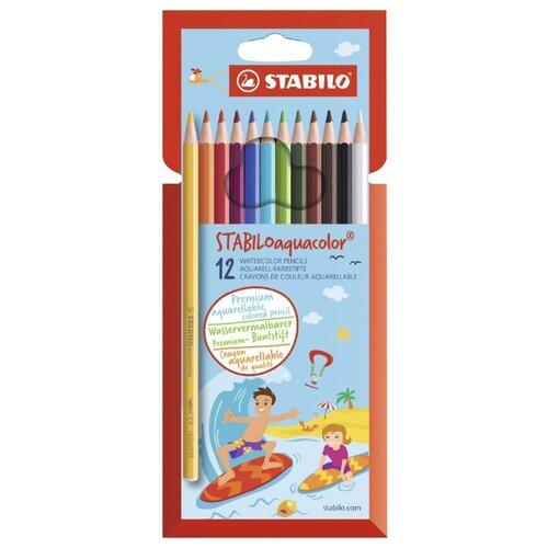 Купить STABILO Акварельные карандаши Aquacolor 12 цветов (1612-6), Цветные карандаши