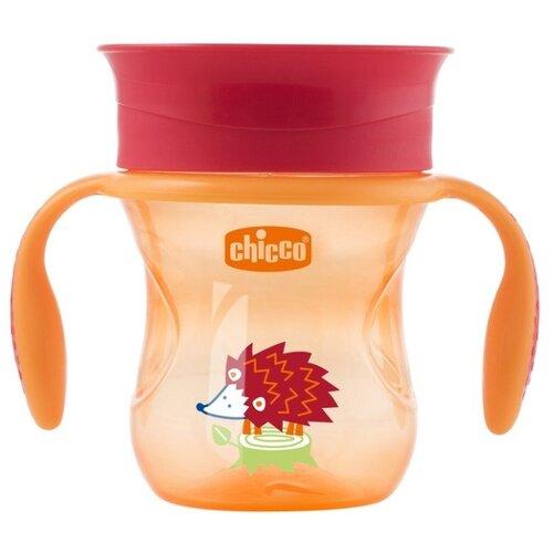 Поильник Chicco Perfect Cup, 266 мл красный ежик