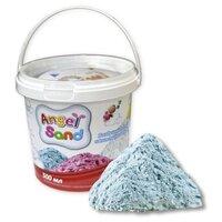 Кинетический песок Angel Sand Базовый голубой 0.5 л пластиковый контейнер