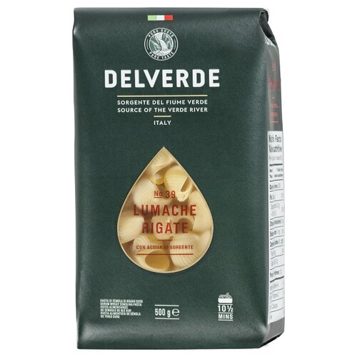 Delverde Industrie Alimentari Spa Макароны № 39 Lumache Rigate, 500 г макароны delverde spaghetti 141 с отрубями био 500 г