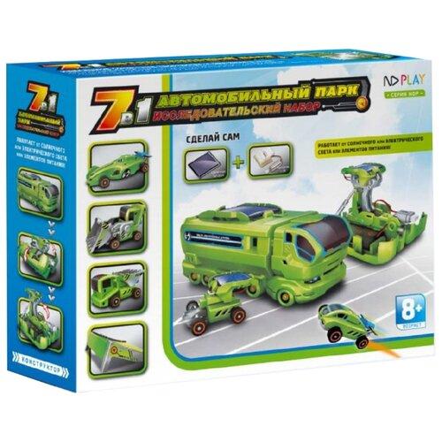 Купить Электромеханический конструктор ND Play На солнечной энергии 265608 Автомобильный Парк 7 В 1, Конструкторы