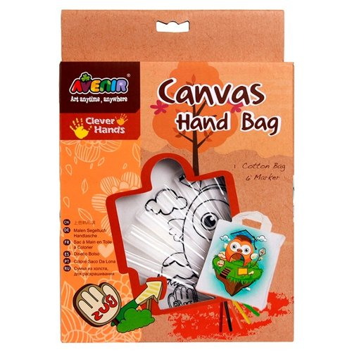 Купить AVENIR Набор для раскрашивания сумки из холста Сова (AL2006), Роспись предметов